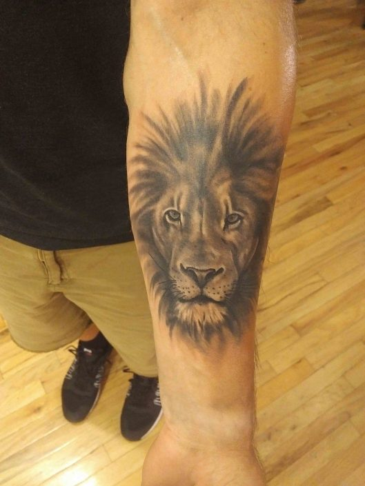Lion Tatto By Ben Chambers